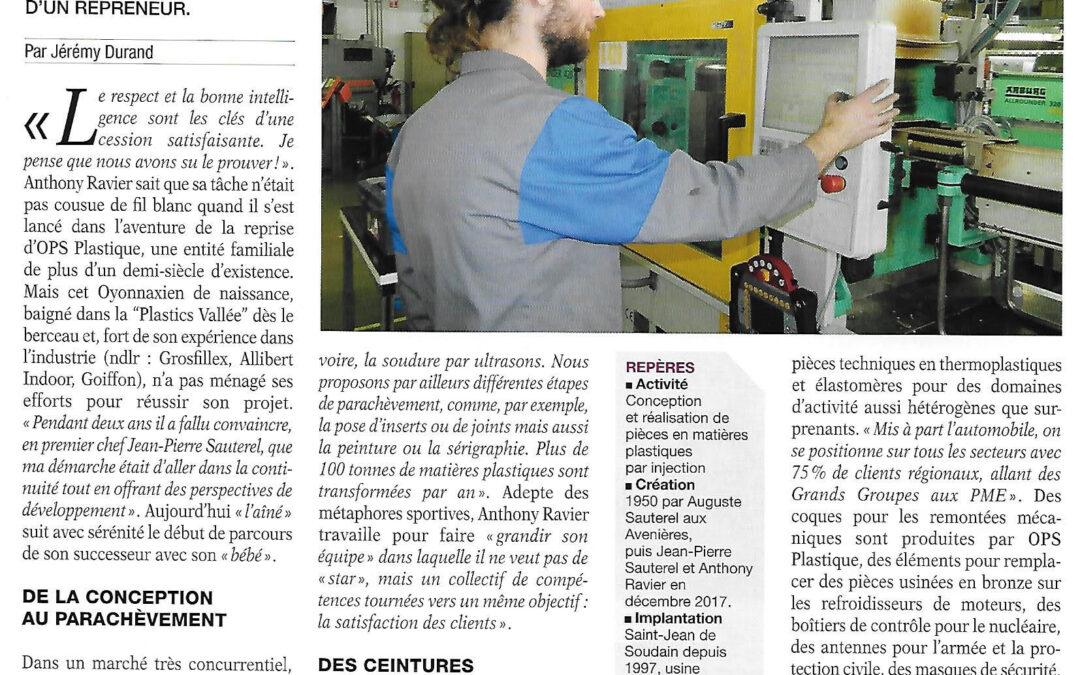 Une reprise réussi d'OPS Plastique à St Jean de Soudain