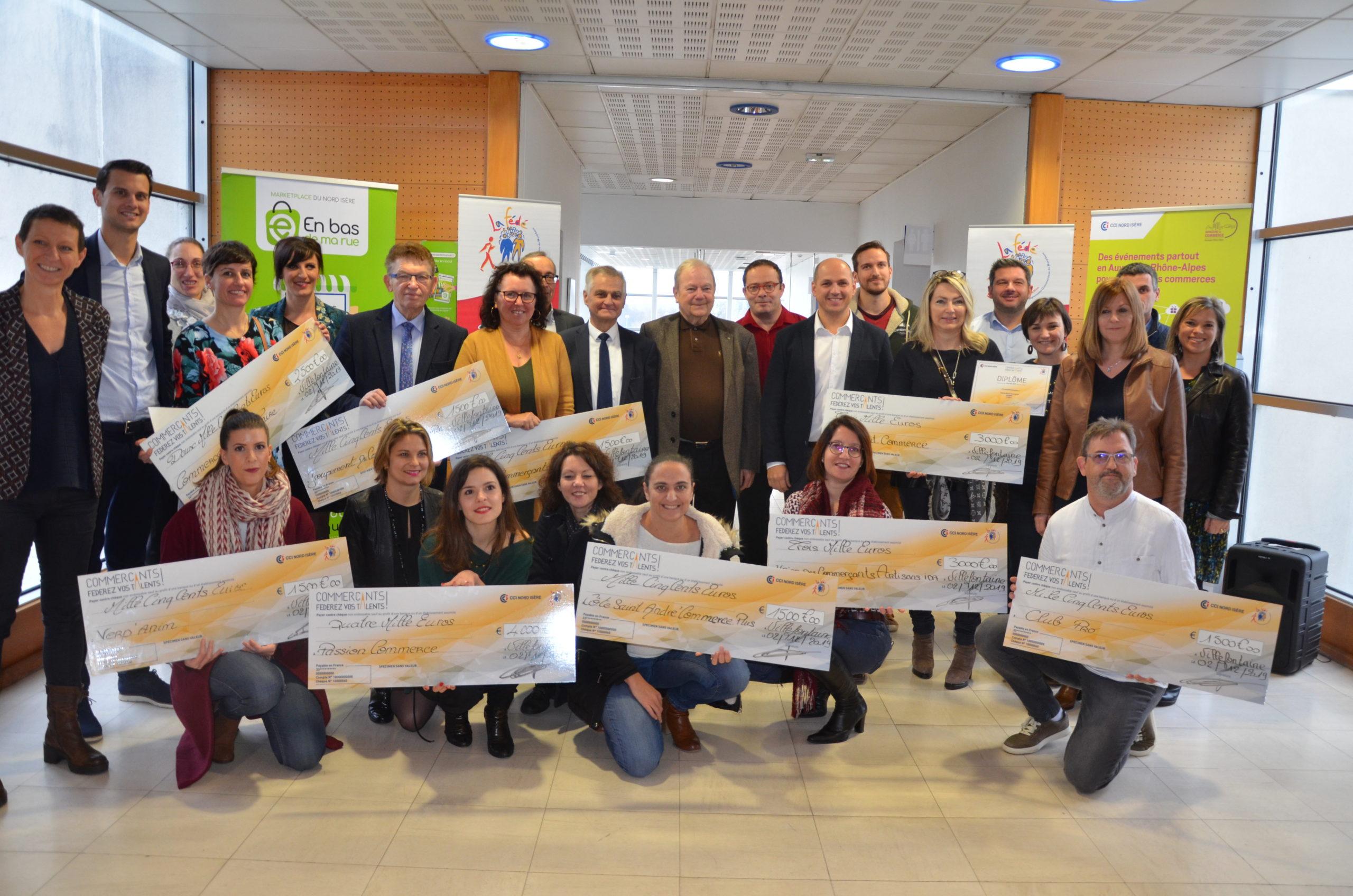 Photo des lauréats de l'édition 2020 Commerçants fédérez vos talents